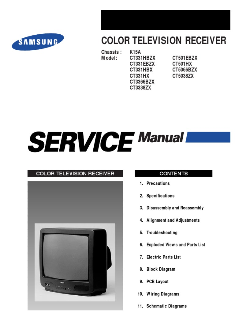 Unusual samsung tv wiring diagram pictures inspiration samsung ct5038 service manual k15a electrostatic discharge pooptronica Gallery