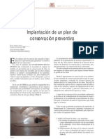 implantación de un plan de conservación preventiva