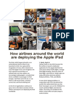 10 ways how-airlines around the world are deploying the Apple iPad