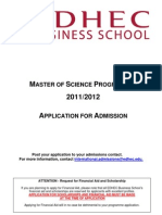 2- Application File EDHEC MSc 2011-2012