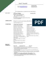 John P Truesdell Teaching Resume (August 2011)