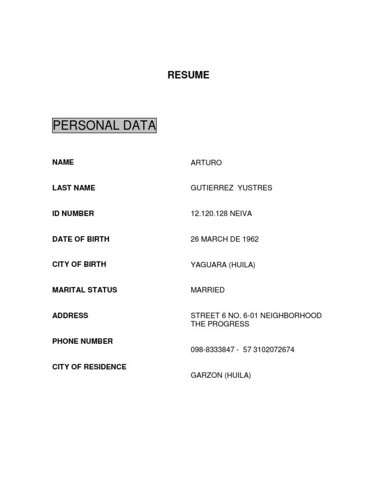 ejemplos de resume en ingles awesome 7 best of ingles ejemplos de ...