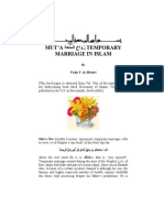 MUT'A متعة TEMPORARY MARRIAGE IN ISLAM