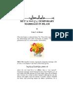 MUT'A متعة TEMPORARY MARRIAGE IN ISLAM