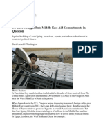 US Debt Struggle Puts Middle East Aid Commitments in Question