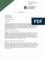 Fake Whistleblower Robert MacLean - Fired Air Marshal - Termination Proposal - September 13, 2005