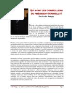 Qui sont les conseillers du président Martelly? par Leslie Pétigny