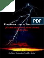 Exposition de Ce Que Les Jahmiyya Ont Nie (imam Ahmad ibn Hanbal)