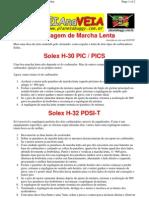 Regulagem Marcha Lenta Brasilia
