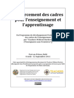 Building Capacity for Teaching and Learning / Renforcement des cadres pour l'enseignement et l'apprentissage (Haiti)