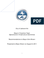 Operations & Infrastructure Transition Policy Committee Report