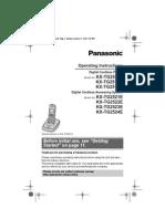 KX TG2511 Manual