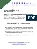Curriculum Maintel S.A.de C.V.