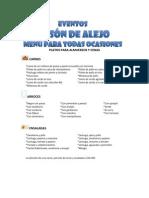 Menu Eventos Alejandro Presentacion +
