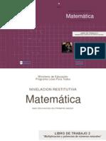 """LIBRO DE TRABAJO 2 """"Multiplicación y potencias de números naturales"""""""
