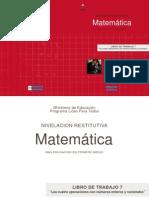 """LIBRO DE TRABAJO 7 """"Las cuatro operaciones con números enteros y racionales"""""""