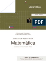 """LIBRO DE TRABAJO 1 """"Suma, resta y orden de números naturales"""""""