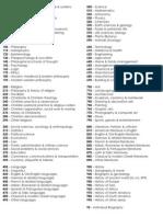 DDC Hundred Division for Encoding