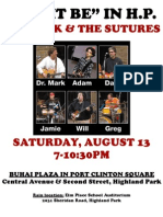 Dr. Mark and the Sutures - August 13 LNHP Concert Flyer