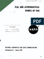 Aeronautical and Astronautical Events of 1961