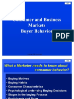 Consumer and Business Market Buyer Behaviour