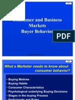 Consumer and Business Market Buyer Behaviour