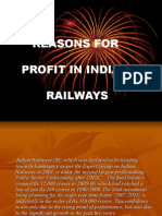 Reasons for Profit in Indian Railways