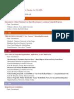 Draft Schedule 2011