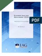 IAG Business Analysis Benchmark 2009