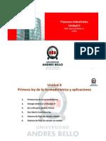 Procesos Industriales_Advance Unidad II_Primera Ley