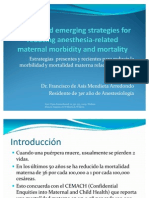 Present and Emerging Strategies for Reducing Anesthesia-related Maternal