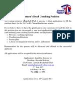 ABL Womens Head Coaching Position