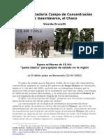 EE.UU trasladaría Campo de Concentración de Guantánamo, al Chaco