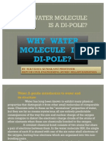 Why Water is a Dipole