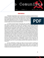 Correo Comunista [Boletín Interno del MCM, N. 1, Agosto del 2011]
