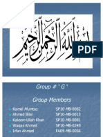 Group G Presentation