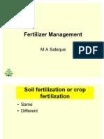 Saleque Fertilizer Management