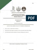 TRIAL MATE Pmr 2011 Perak Paper 1