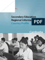 UNESCO Report on Secondary Education Regional Information Base Country Profile Cambodia