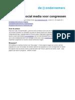 Versie 2 Van Handboek Social Media Voor Congress En