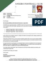 Deeping Rangers 2011 Tournament ~ Application Form