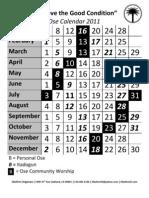 Ose Calendar 2011