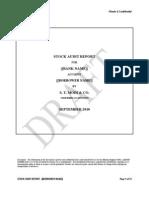 Stock Audit Report Format Draft