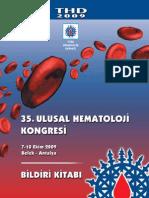 35. Ulusal Hemotoloji Kongre  bildirisi