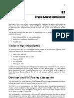 02 - Oracle Server Installation