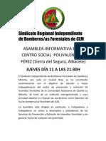 Asamblea Informativa Bomberos/as Forestales en Férez