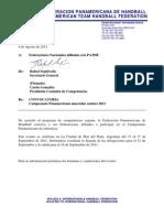 Convocatoria Panamericano Cadetes Masculino - Rev.