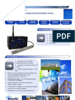 Wireless Sensor for Temperature and Humidity measurements
