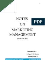 Marketing Mng Notes