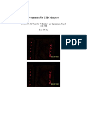 Led Matrix Project | Instruction Set | Microcontroller